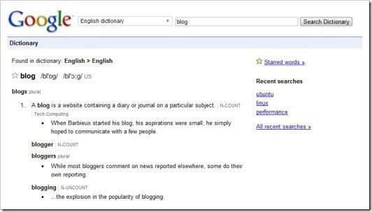 google-dictionary