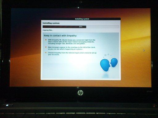 Instalasi Ubuntu 9.10 pada HP Mini 311