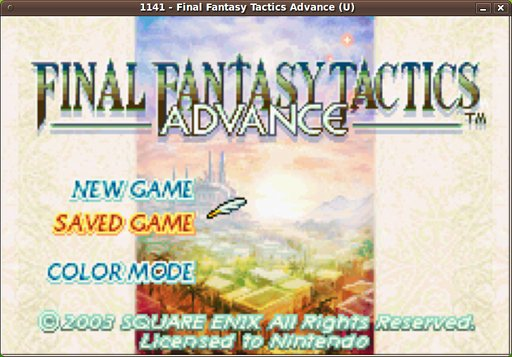 Game Final Fantasy Tactics Advance pada Mednafen GBA