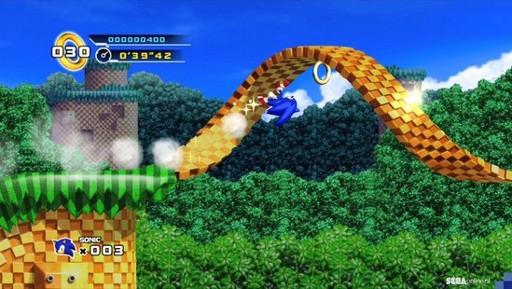 Tampilan pemainan Sonic 4