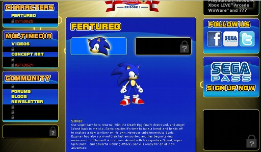 Situs resmi Sonic 4