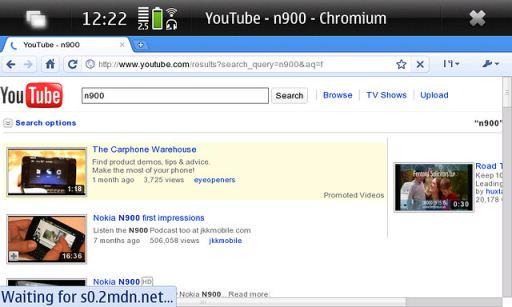 Google Chrome pada Nokia N900
